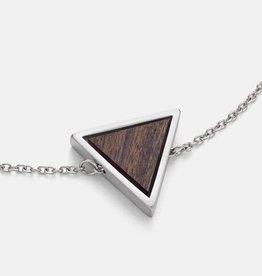 Kerbholz Kerbholz, Triangle Necklace, Sandalwood, silver