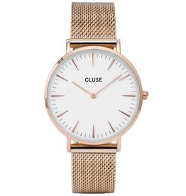 Cluse Cluse, Boho Chic Mesh, rose gold/ white