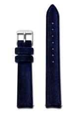 Cluse Cluse, Minuit Strap, blue velvet/silver