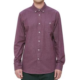 Obey Obey, Keble II Woven Shirt, eggplant, L