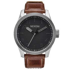 Nixon Nixon, Safari Leather, silver/black/brown