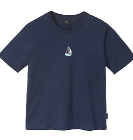 Recolution Recolution, Classic T-shirt Sailing Boat, navy, XS
