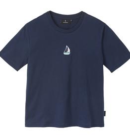 Recolution Recolution, Classic T-shirt Sailing Boat, navy, L