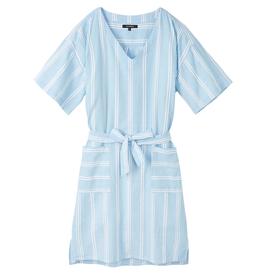 Recolution Recolution, Dress stripes, dusk blue- white, M