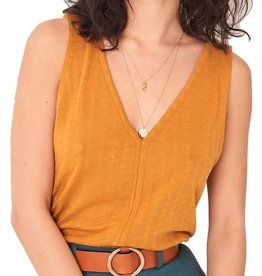Sessun Sessun, MARIN T-shirt, golden yellow, L