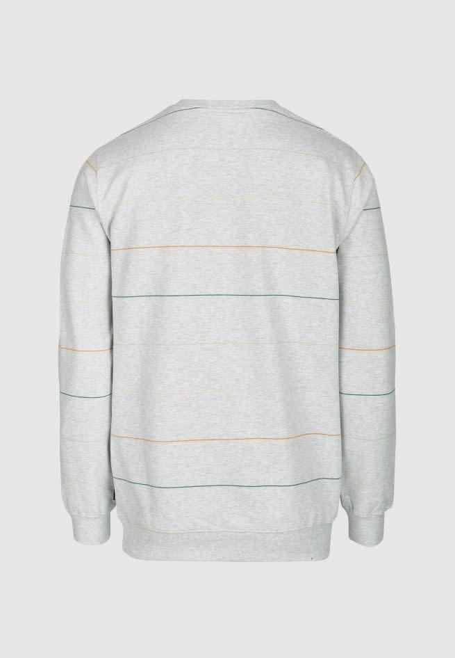 Cleptomanicx Cleptomanicx, Crewneck Multi Stripes, light grey/lemon, XL