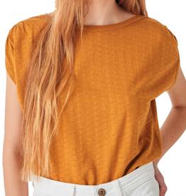 Sessun Sessun, Sixtojacquard T-Shirt,  golden yellow, S