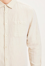 KnowledgeCotton Apparel KnowledgeCotton, Larch linen strutured, feather gray, M