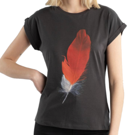 Dedicated Dedicated, Visby Red Feather, charcoal, L
