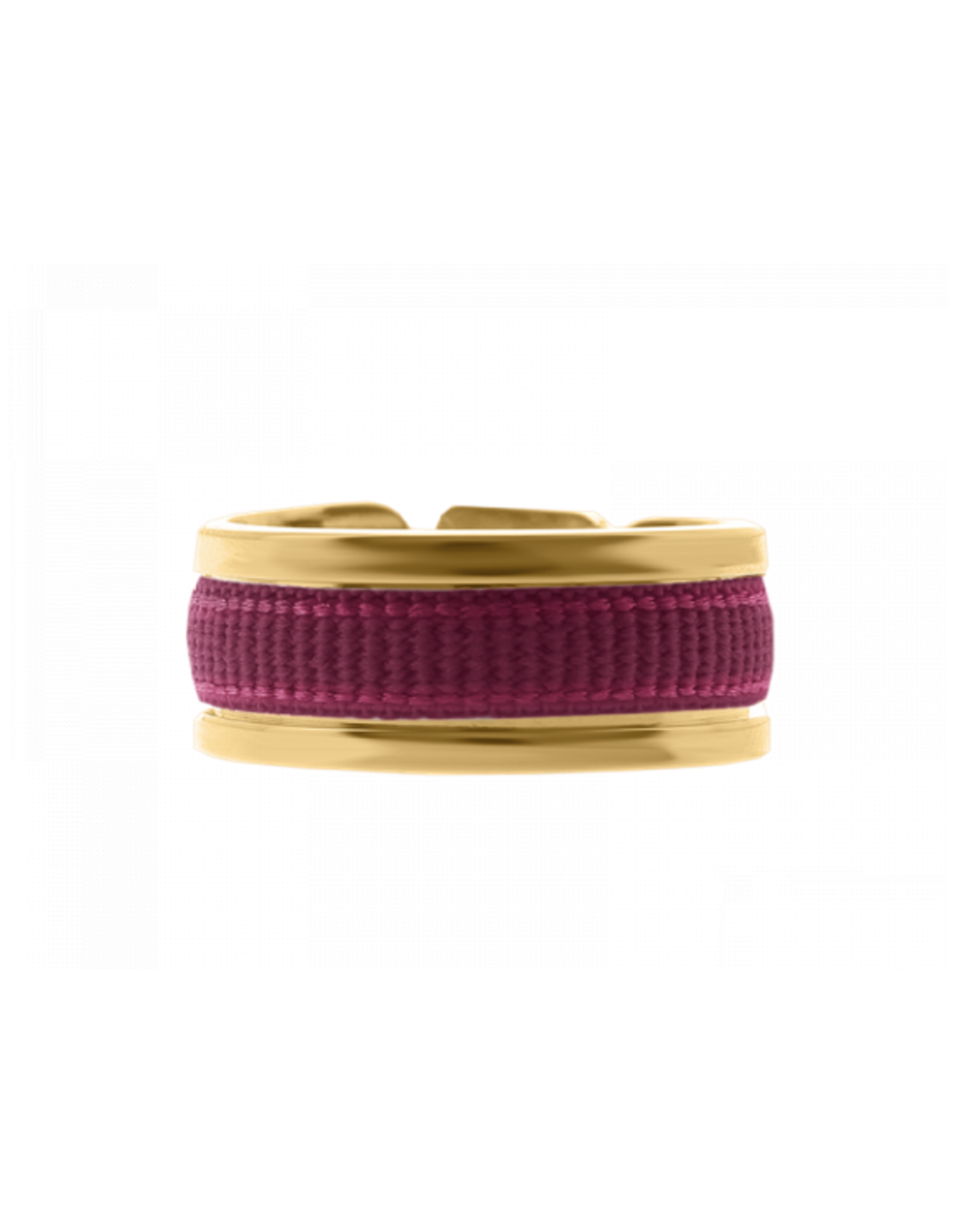 Les Interchangeables Ribbon Ring Wine on Gold