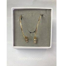 Les Interchangeables Hoop Earrings with Swarovski stones