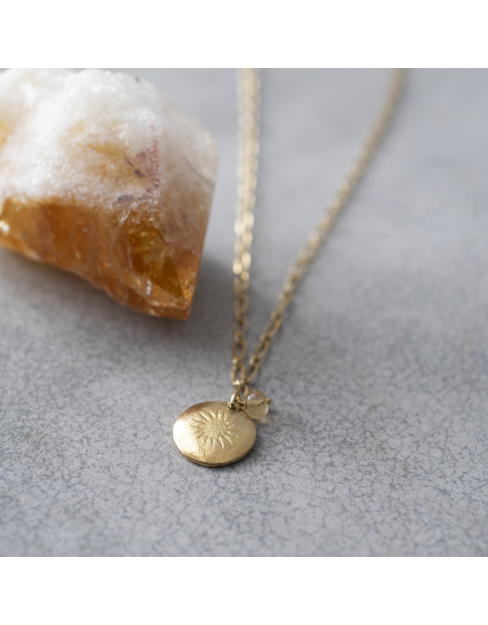 A beautiful Story Rose Citrine Gold Necklace