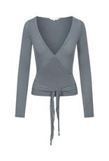 Gai & Lisva Anne Top - Supersoft viscose Wool Mix Wrap Top