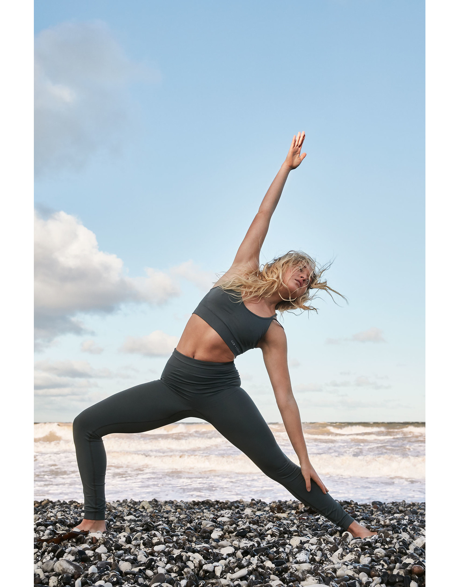 Gai & Lisva Sukha Supersoft Recycled Nylon Yoga Top