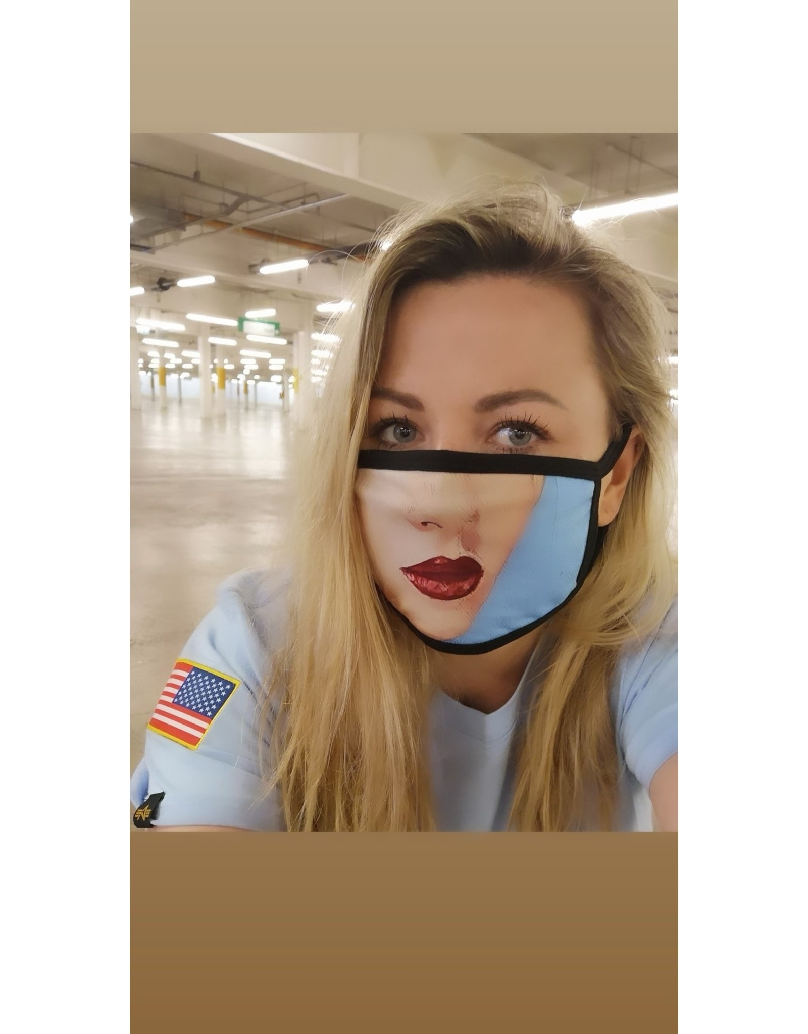Catherine Eager Art Sea Queen Lips Face Mask