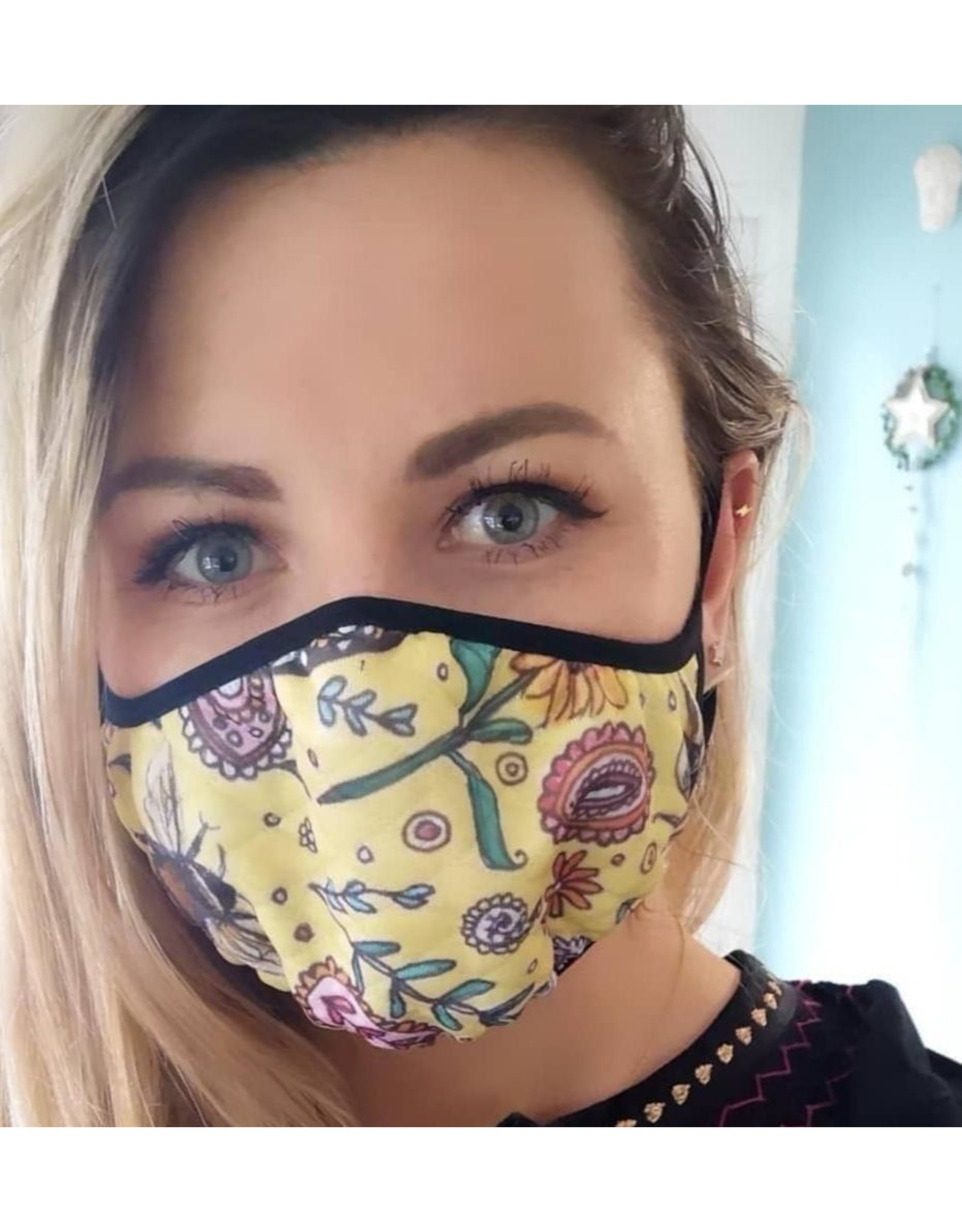 Catherine Eager Art Birds and Bees Face Mask