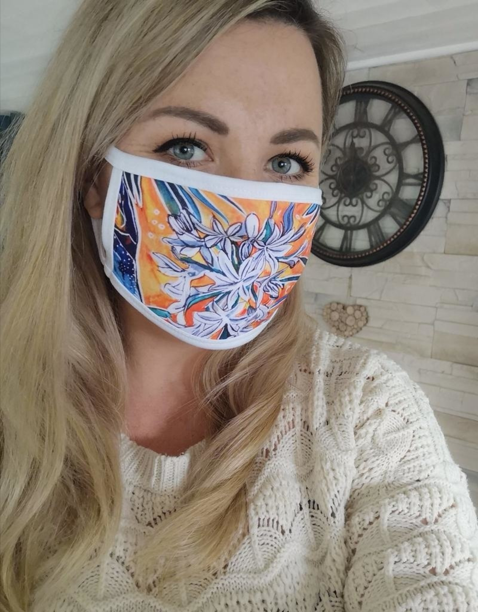 Catherine Eager Art Sunset Mask