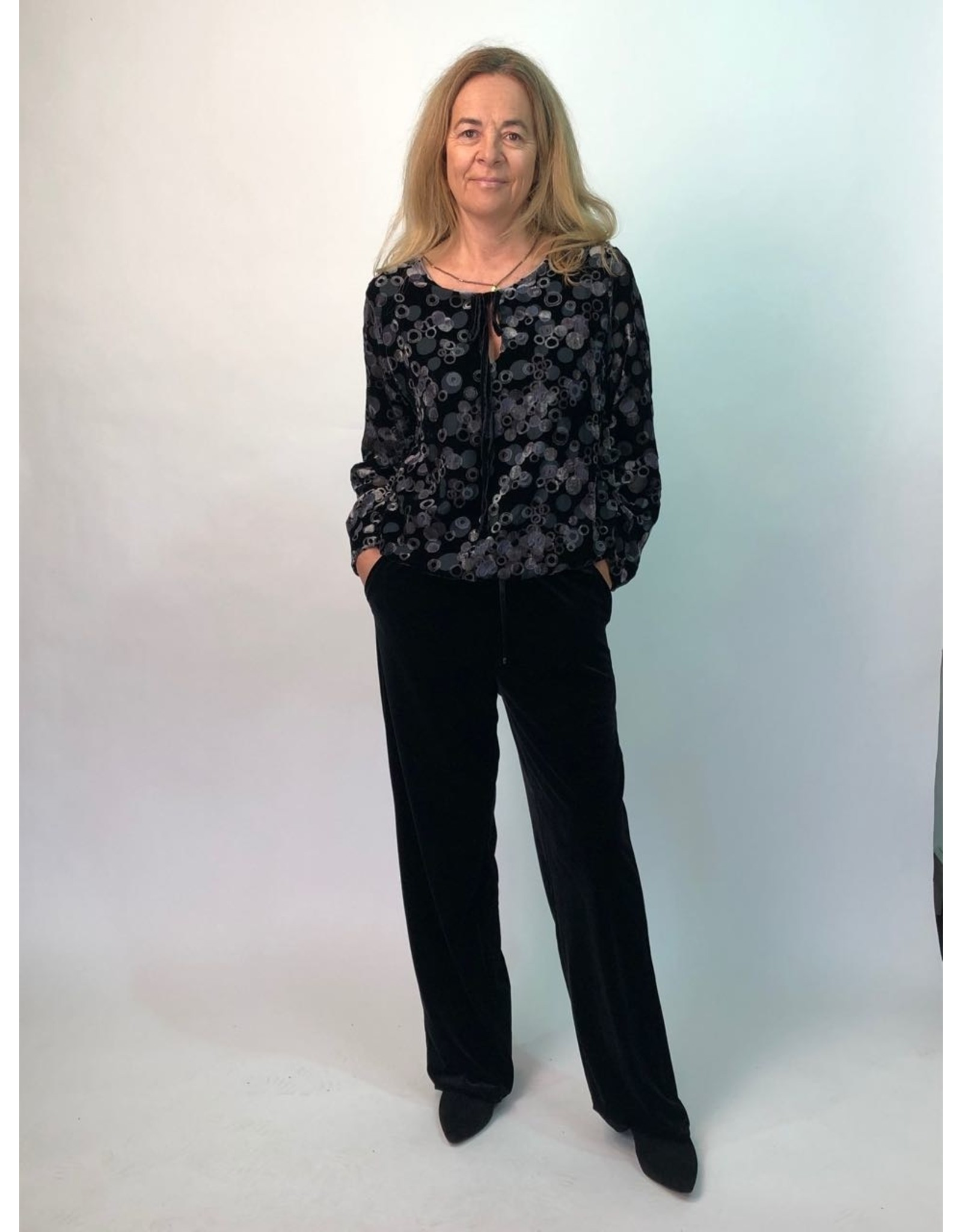 La Fee Maraboutee Drawstring Stretch Velvet Trousers