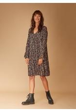 La Fee Maraboutee Pretty Floral Print V Neck Long Sleeve Midi Length Dress.