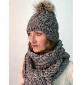 Humility Knitted Bonnet with Fur Bobble