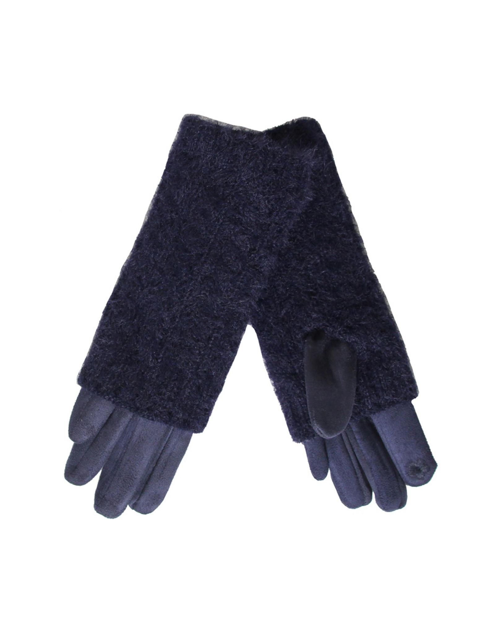 PARIS ES'TYL Chenille Covered Fleece Gloves