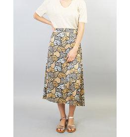 La Fee Maraboutee Heart Print Midi Skirt