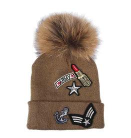 PARIS ES'TYL Army Lipstick Bobble Hat