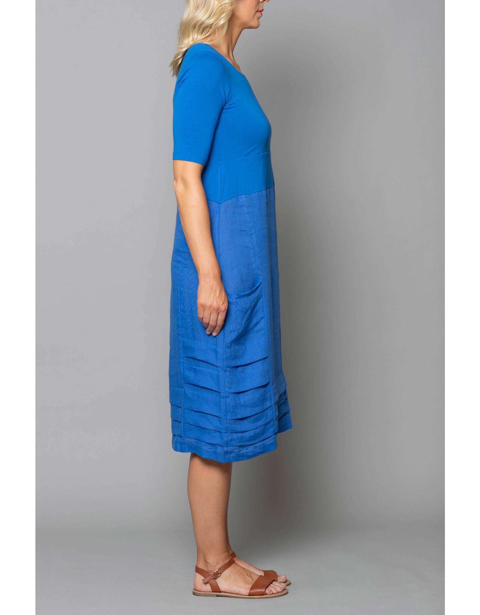 Peruzzi Pleated Linen Dress