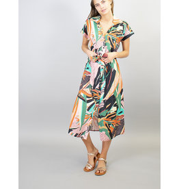 La Fee Maraboutee Short Sleeve Button Through Belted Dress