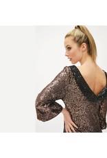 Fee G Fee G - Short Dip Dye Sequin Gold Dress