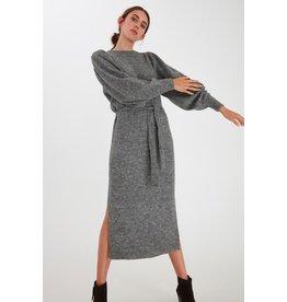 ICHI Ichi - Jordan Dark Grey Melange Dress - 20112590