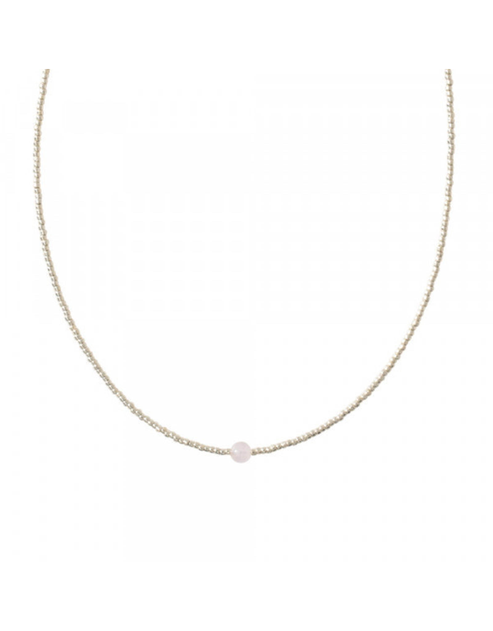 A beautiful Story A Beautiful Story - Flora Rose Quatrz Silver Necklace