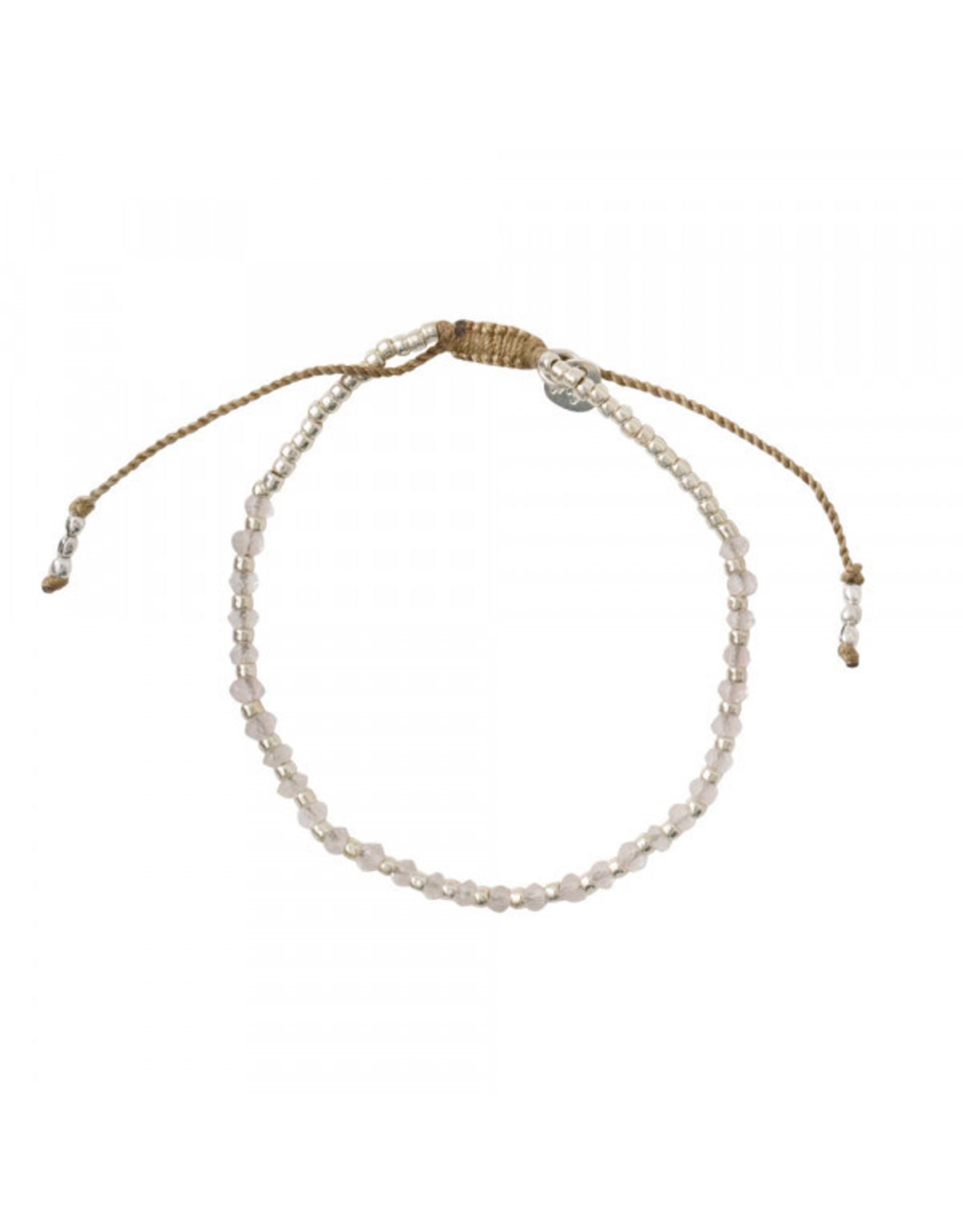 A beautiful Story A Beautiful Story - Beautiful Rose Quartz Silver Bracelet