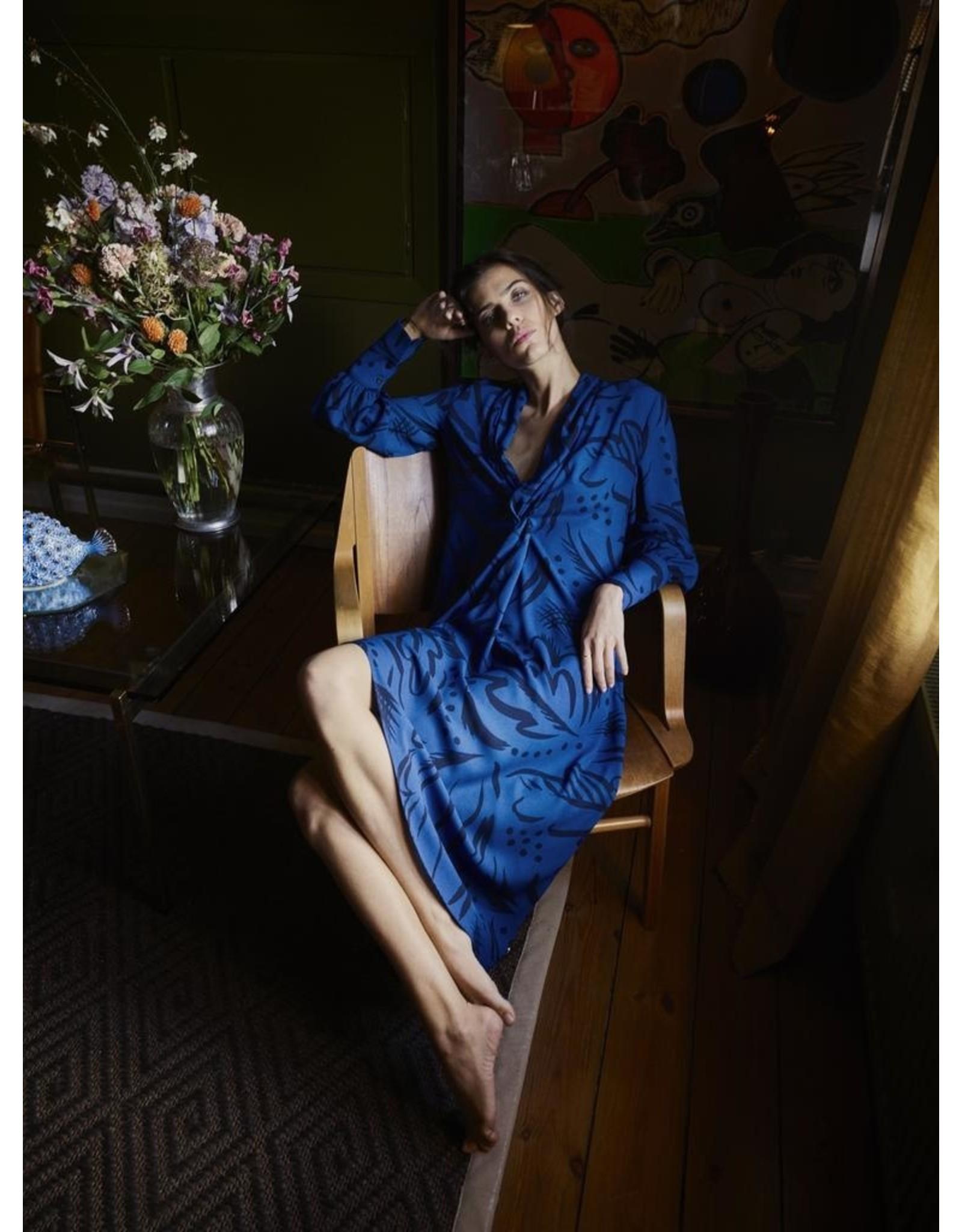 Mos Mosh Callie Tory Dress Blue