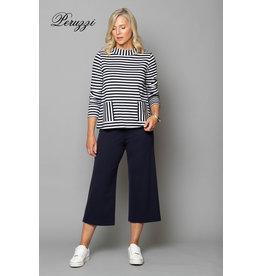 Peruzzi Peruzzi - Compact Jersey Stripe Top