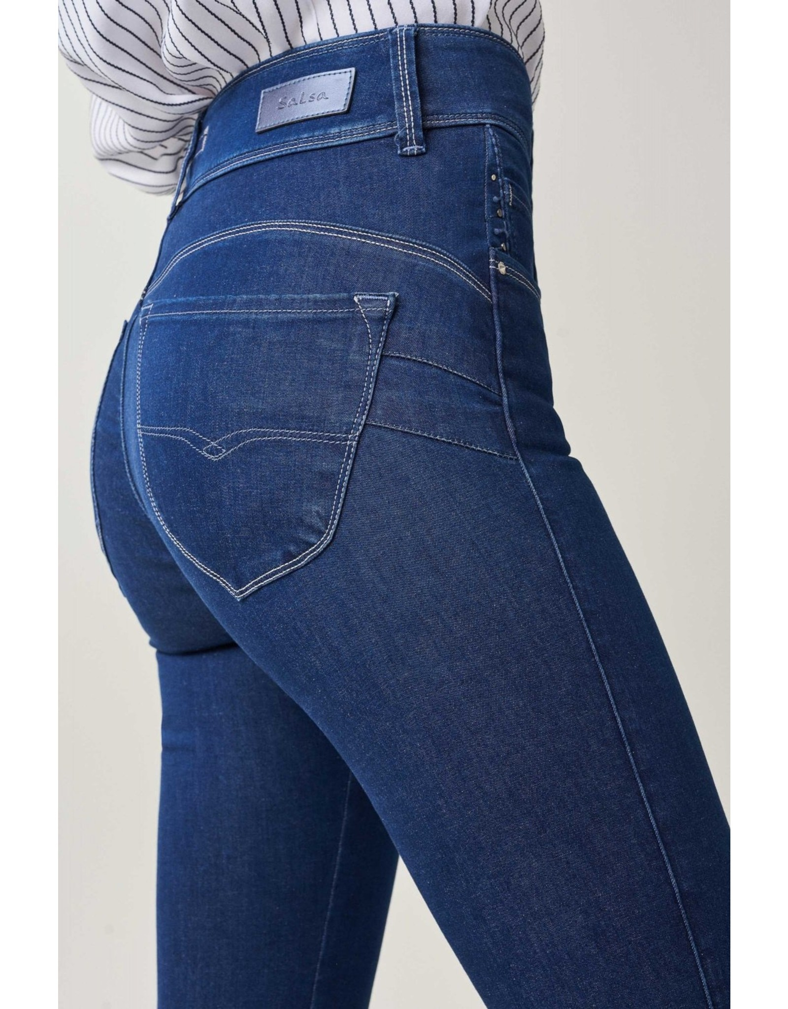 Salsa 125656 -Push In Secret Capri Jeans With Embroidery On The Hem