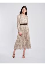 Fee G 836/k - Pleated Print Dress with Belt