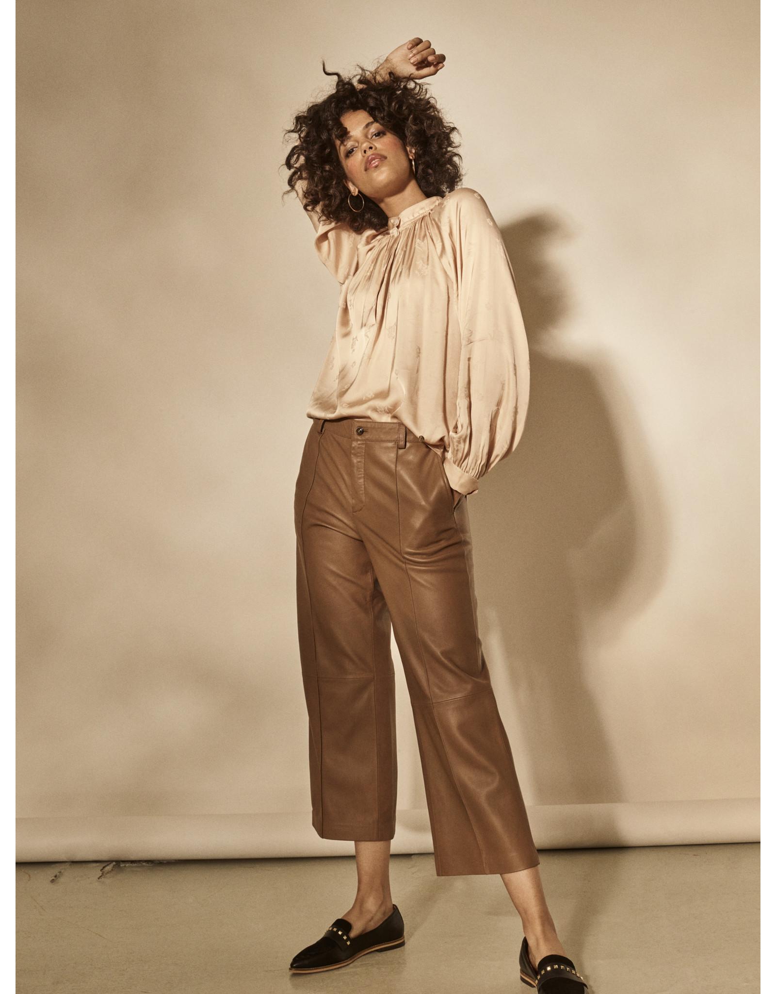 Mos Mosh 134970 - Como Leather Pant - Cropped Carafe