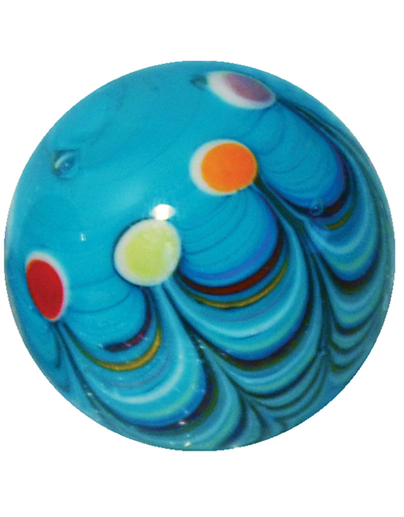 Cabaret - blauw, 22mm