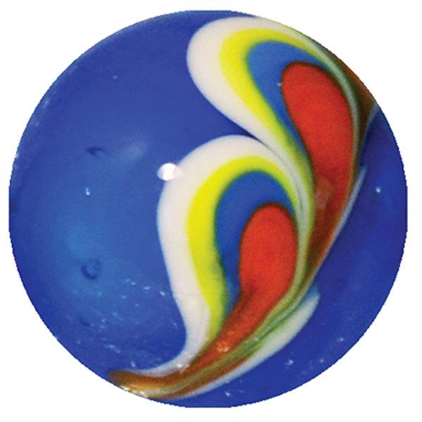 Pauwenveer - blauw 16mm