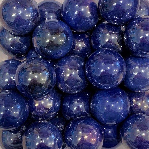 Parel - blauw 25mm