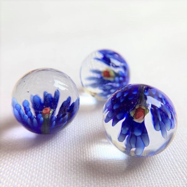 Bloesem - blauw 25mm