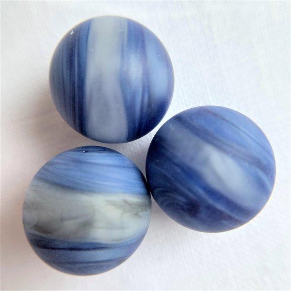 Wedstrijdknikker 16,48mm - blauw-wit gestreept