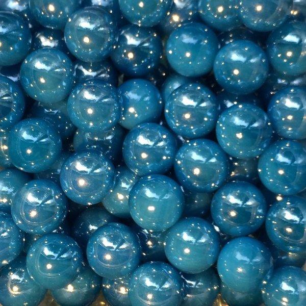 Azuurblauwe parel 16mm