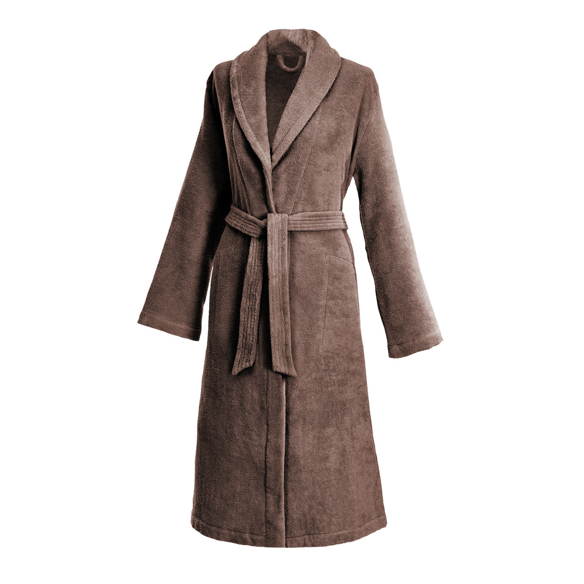 dreamflor ROCKY BROWN | LADIES'  ROBE WITH SHAWL COLLAR