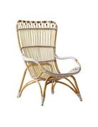 Affaire Chantal Highback Chair, White