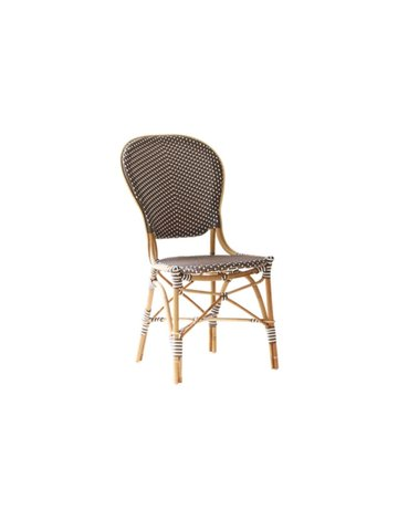 Affaire Isabell Side Chair, Cappucino with White Dots