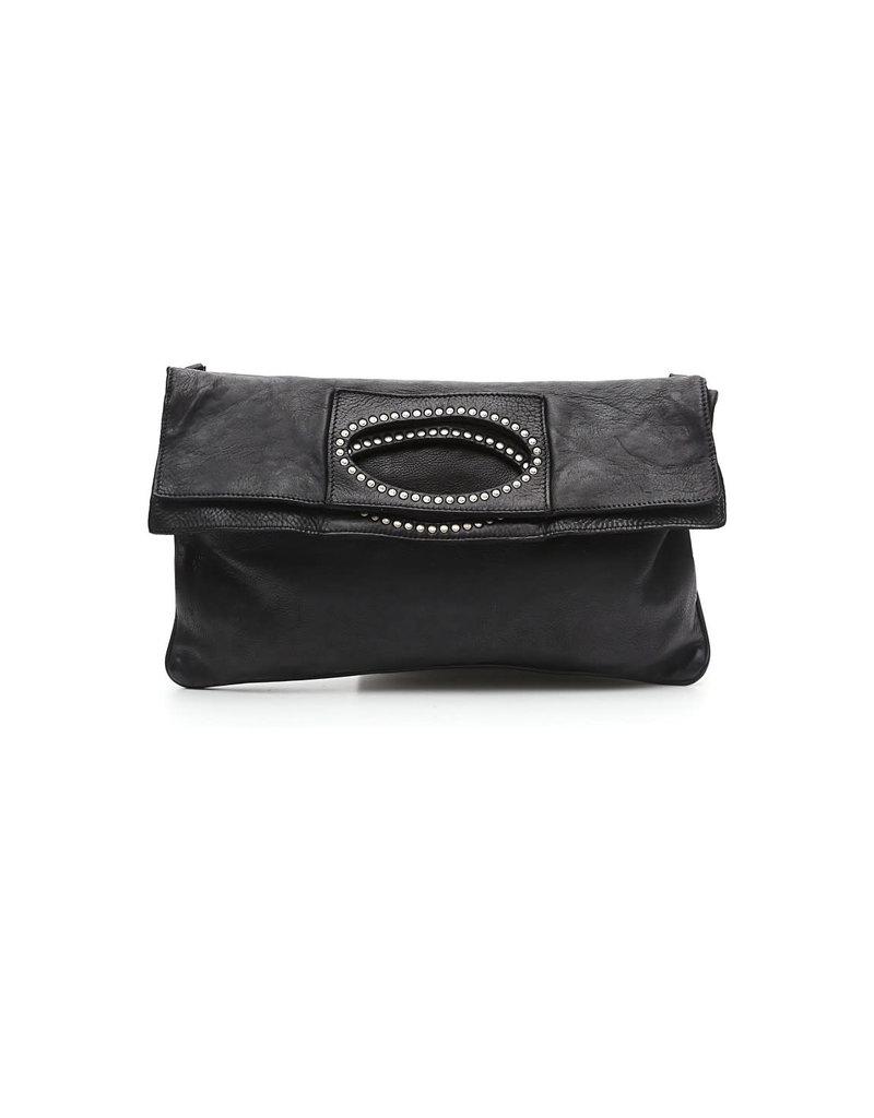 Campomaggi 100% genuine leather. Flat shopper. Black