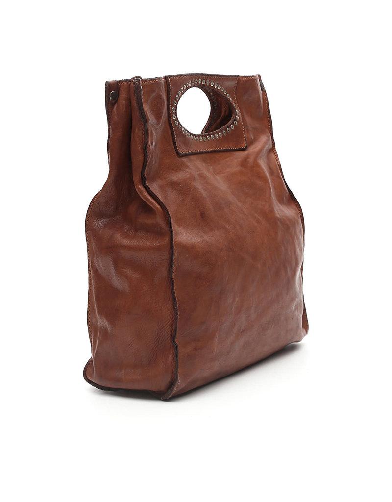 Campomaggi 100% genuine leather. Shopper. Cognac.