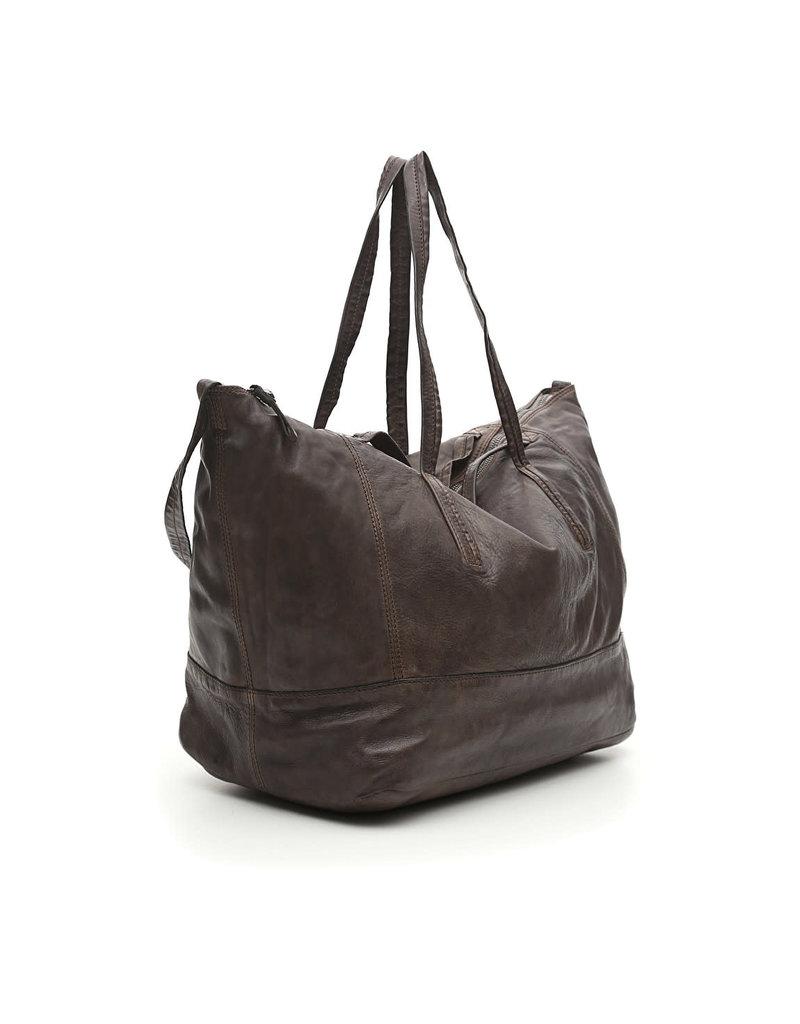 Campomaggi Shopping bag. Big. Genuine leather. Black.